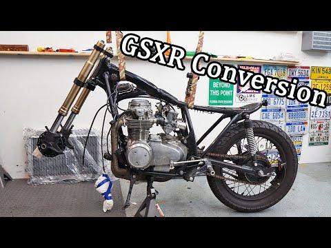 GSXR Forks Installation On a CB550 - CB550 Cafe Racer Build Pt. 76