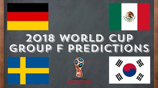 2018 World Cup Group F Predictions/Analysis