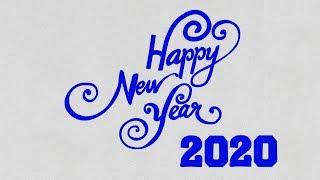 Happy New Year 2020 Drawing New Year Drawing Idea 2020 Happy New Year Shaem Art