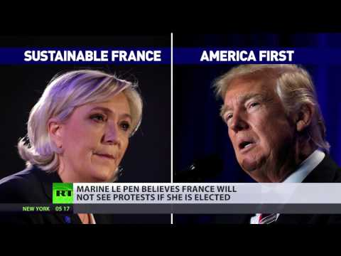 Thumbnail: In France, we respect election results – Marine Le Pen on anti-Trump protests & French vote
