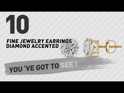 Fine Jewelry, Earrings Diamond Accented Collection // Most Popular 2017