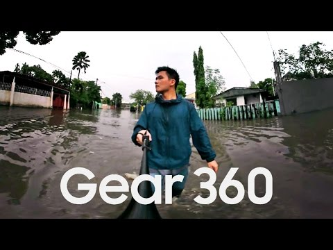 Experience a Flood in Metro Manila, Philippines • Samsung Gear 360 Test • Banzski 360