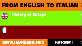 How to say history of Europe in Italian