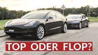 Tesla Model S Fahrer Probiert Model 3 Aus!