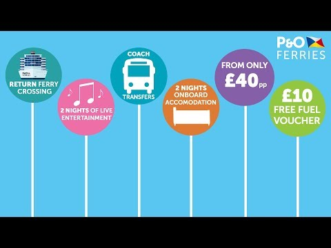 P&O FERRIES £10 FUEL CASHBACK OFFER | MINICRUISES MINI PRICES