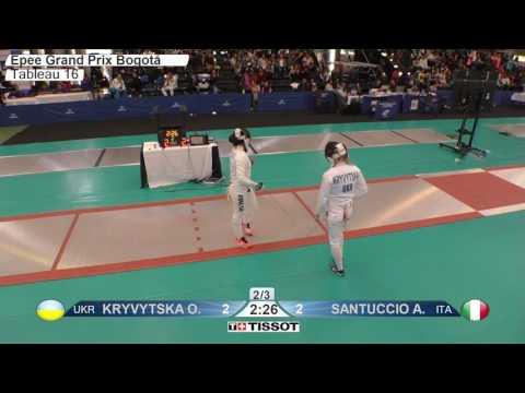 FE F E Individual Bogota COL Grand Prix 2017 T16 01 red KRYVYTSKA UKR vs SANTUCCIO ITA