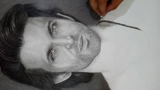 Hrithik Roshan | Charcoal and Graphite Sketch Portrait | Timelapse | By Shubham Sharma |