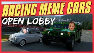 Forza 7 | Racing MEME CARS Stream | Open Lobby #12
