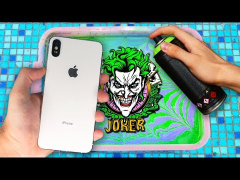 HYDRO Dipping iPhone XS MAX !! (JOKER Custom) 🎨