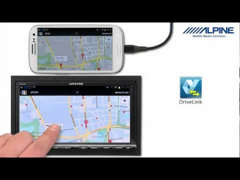 Alpine ICS-X8 with Samsung Galaxy S3 and DriveLink