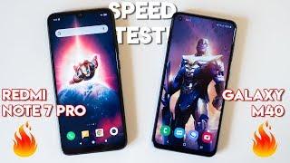 Galaxy M40 vs Redmi Note 7 Pro Speedtest comparison!