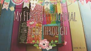 My First Art Journal - Flip through #April