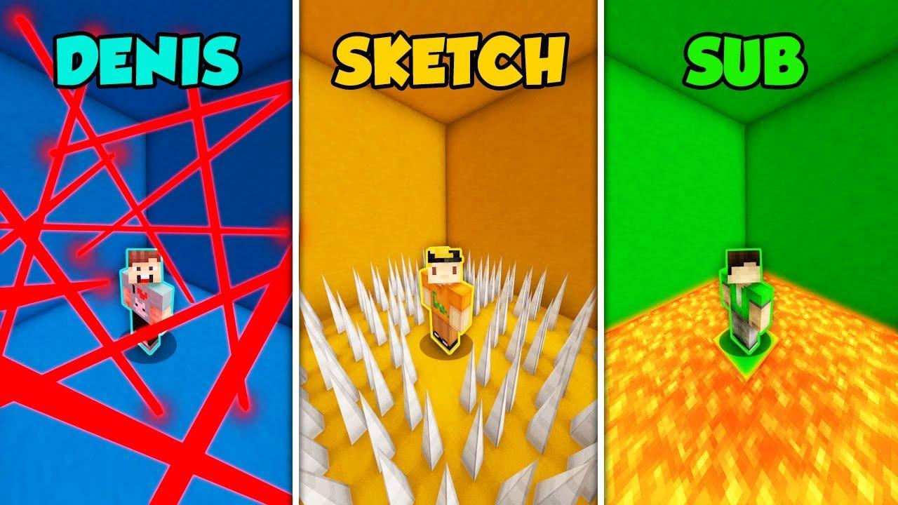 denis-vs-sketch-vs-sub-escape-room-in-minecraft-the-pals