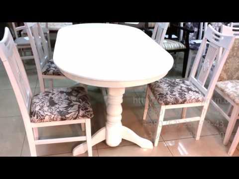 Кухонные столы +и стулья.  Стол обеденный Говерла и стулья Юля