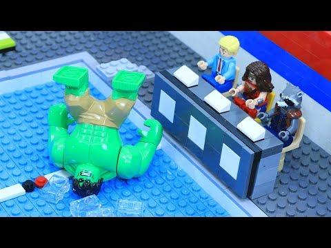Lego Avenger Swimming Pool: Wakanda Diving Championships 2018 | Infinity War - Behind The Battle