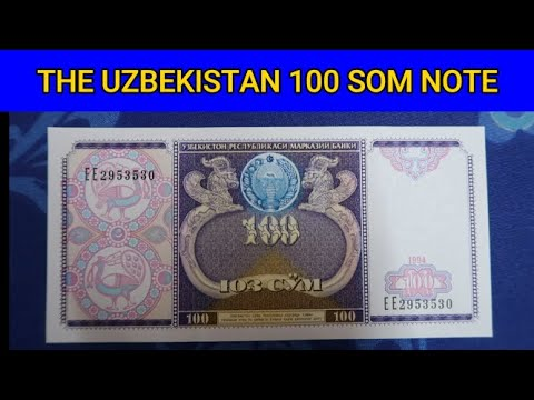 Uzbekistan 100 Som Banknote - World Currencies