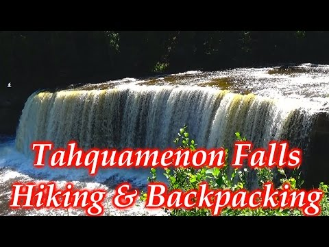 Backpacking & Day Hiking Tahquamenon Falls Michigan 2 Days 1 Night