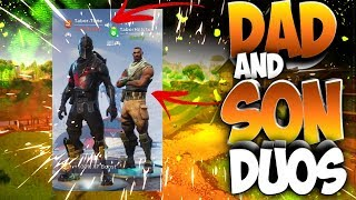 Dad And Son Duos In Fortnite Battle Royale (Dad Playing Fortnite With His Son)
