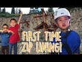 4 Year Old's First Time Ziplining! 😦   Park City, Utah: Traveling with Kids