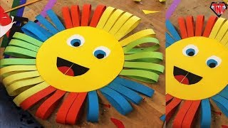 How To Make Awesome Paper Sun For Kids || DIY Colorful Paper Sun Home Decor