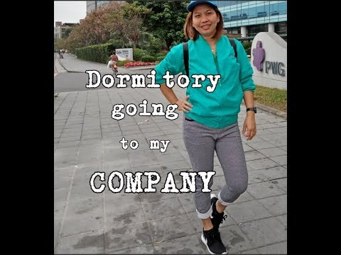 TAIWAN,FACTORY WORKER..from DORMITORY4 To COMPANY