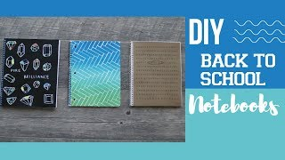 DIY BACK TO SCHOOL NOTEBOOKS | DIY Back to School Supplies | DIY Urban Outfitters Inspired Notebook