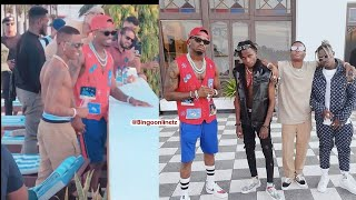 Diamond platnumz X WizKid X Rayvan Video in Zanzibar Shooting new song