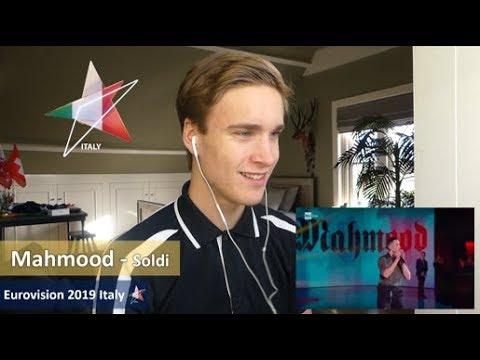 Reaction video Mahmood - Soldi (San Remo) Italy Eurovision 2019