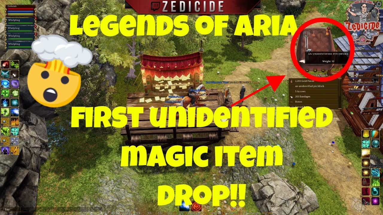 Legends of Aria (LoU) - FIRST Unidentified Magic Item Drop!! - (2019)