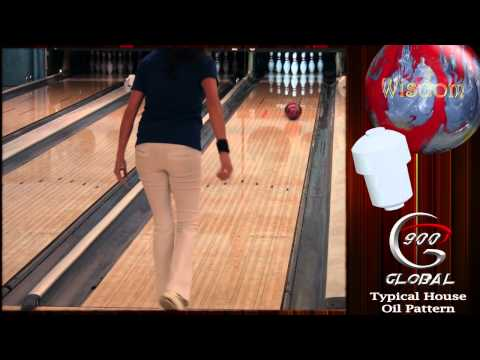 900 Global Wisdom Red Silver Pearl Bowling Ball Reaction Video Review