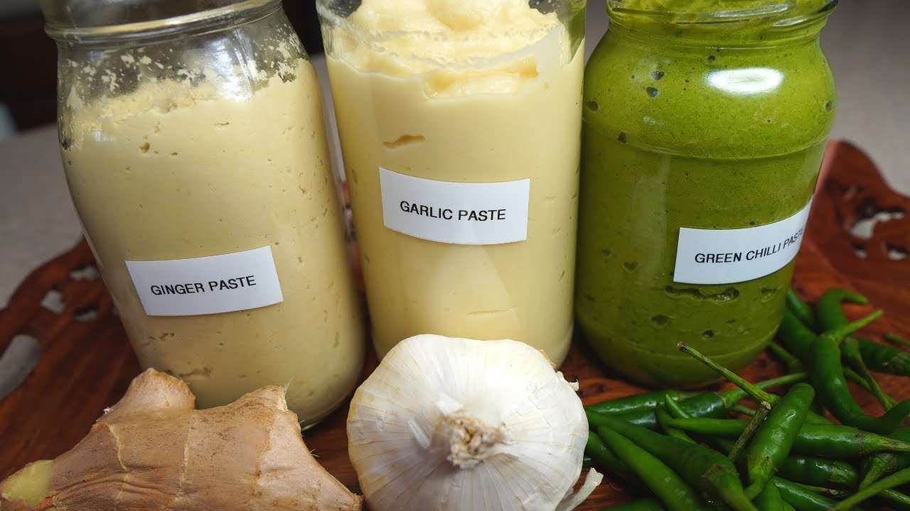 Ginger Garlic & Green Chili Paste | अदरक लहसुन हरी मिर्च का पेस्ट बनाये महीनो खाये