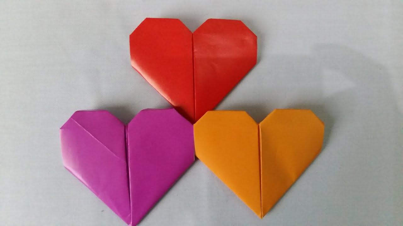 origami tutorial origami love simple cara membuat
