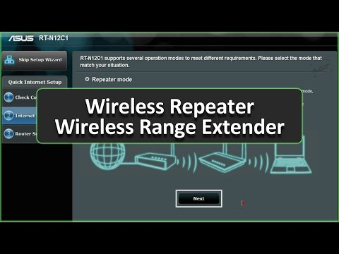 ASUS Router Setup As Wireless Repeater / Wireless Range Extender (Give Permanent IP Address)