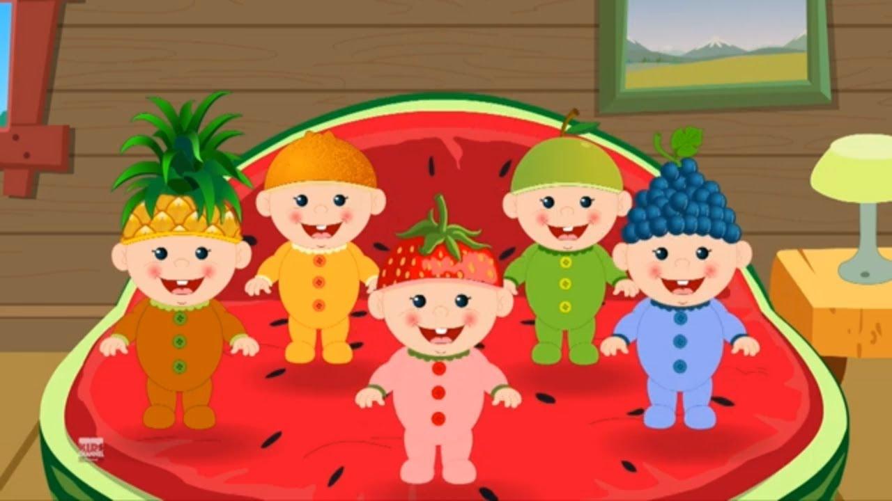 pięć małych dzieci piosenki dla dzieci   rymowanki dla dzieci