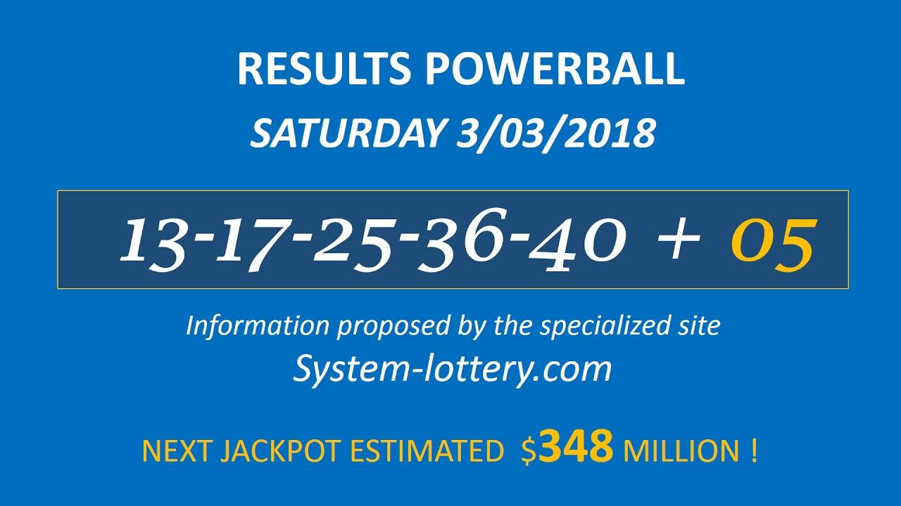 Powerball 3 Numbers