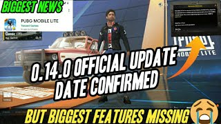 Shocking | Pubg Mobile Lite 0.14.0 official update Confirmed | but Big Features Missing