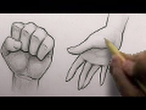 How to draw hands 2 different ways htd video 3