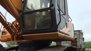 The old case excavator gets a new coat of paint