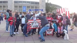 Europa League Hertha BSC und Athletic Bilbao Fans am Olympiastadion Berlin