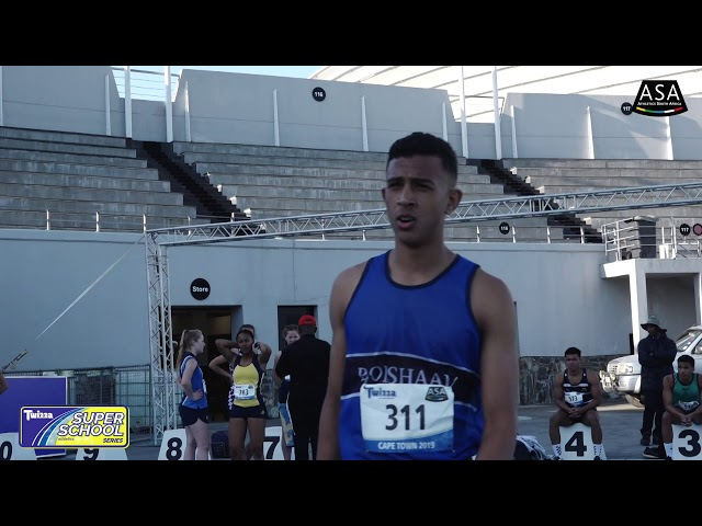 Final 2 Boys u16 100m - 2019 Twizza SuperSchoolSeries Greenpoint