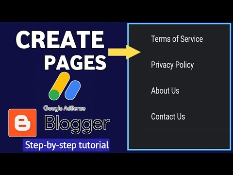 How To Create Pages in Blogger | How to manage pages on blogger