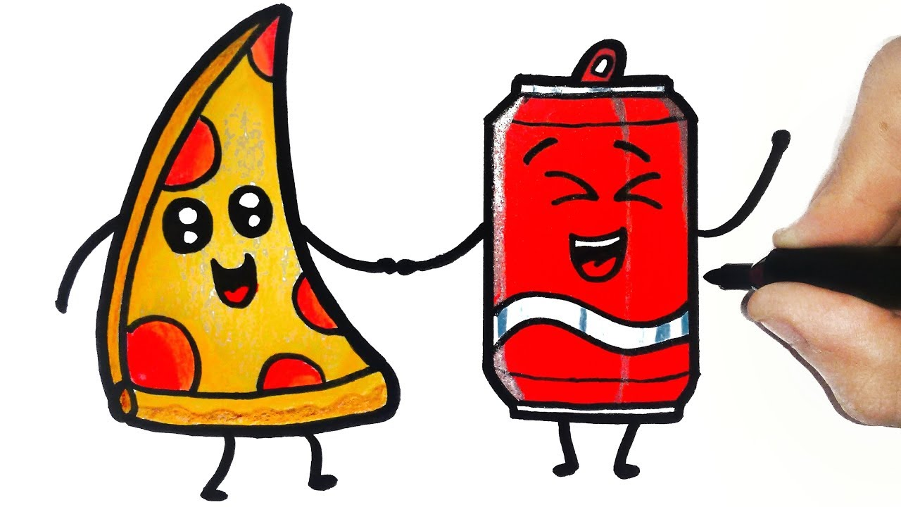 How To Draw A Pizza And Soda Tumblr Youtube