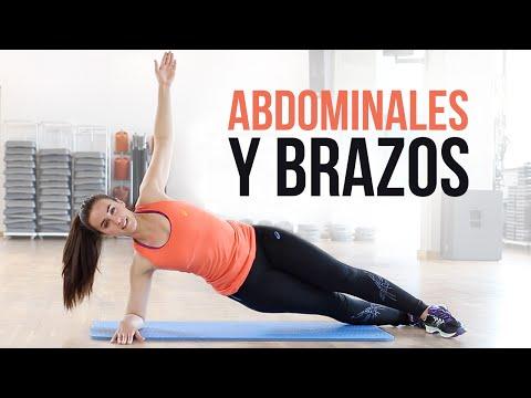 Ejercicios de abdominales y brazos   15 minutos