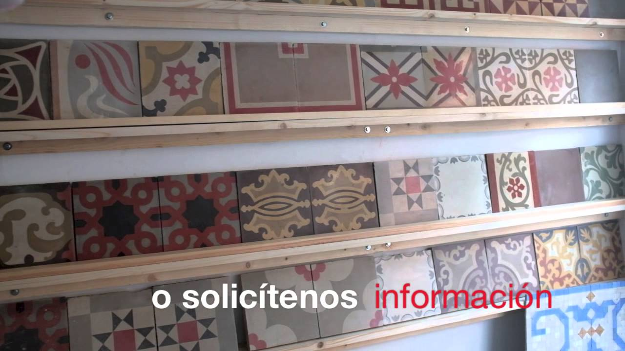 Baldosas y pavimentos hidr ulicos modernistas youtube - Baldosa hidraulica barcelona ...