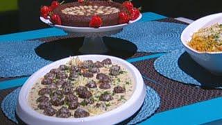 كرات اللحم والخضار بصلصة البشاميل الغنية - ديما حجاوي