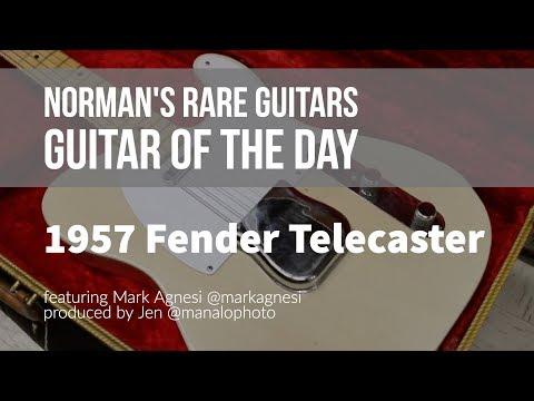 Norman's Rare Guitars - Guitar of the Day: 1957 Fender Telecaster