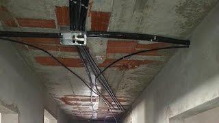 تمديد الكهرباء لمباني العظم