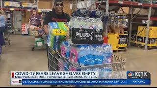 BUYING IN BULK: East Texas grocery stores selling out of food, water, toiletries amid coronavirus co
