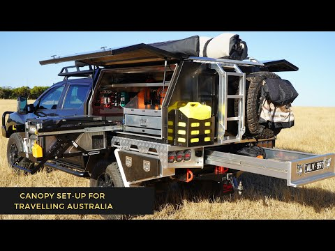 HOW TO SET-UP A UTE CANOPY FOR TRAVELLING AUSTRALIA