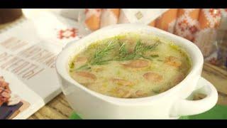 Рецепт супа с сосисками и плавленым сыром Брестский мясокомбинат